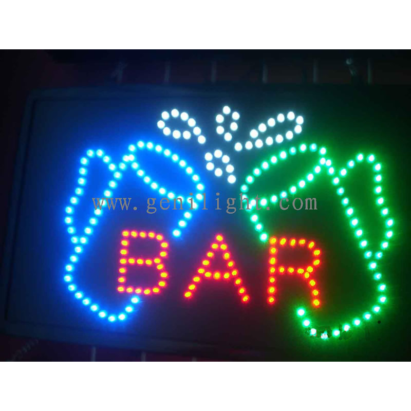 Led strip signs