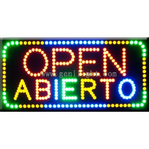 led sign led open sign genilight optoelectronic technology co ltd led sign open sign
